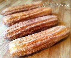 Homemade Churros : ) from Big Boy Bakery Mexican Food Recipes, Sweet Recipes, Dessert Recipes, Breakfast Recipes, I Love Food, Good Food, Yummy Food, Yummy Yummy, Churros