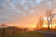Rural Virginia Sunrise, Sky Meadows State Park, Northern Virginia, Piedmont, Photograph, Blue Ride Sunset, VA, Appalachian, Upperville, Marshall, Boyce, The Plains, Dela Plane