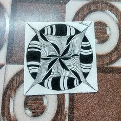 My Zentangle practice tile made today. As it's said getting right mentor is very… Slowly Slowly, Zentangle, Tile, Sayings, Instagram, Design, Mosaics, Zentangle Patterns, Lyrics