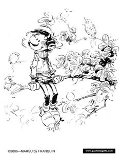 Coloriages: dessins de Gaston Lagaffe à colorier Game Design, Kids Printable Coloring Pages, Figure Poses, Call Art, Animation, Comic Styles, Gaston, Illustrations And Posters, Love Art