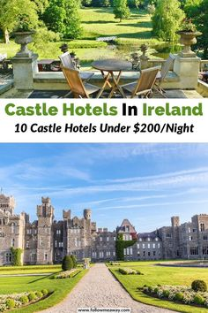Discover 10 best castle hotels in Ireland that offer luxury, hisotry, and gorgoeus settings! These are some of the best castle hotels in Ireland that bring Castle Hotels In Ireland, Castles In Ireland, Germany Castles, Ashford Castle Ireland, Ireland Vacation, Ireland Travel, Travel Europe, Monte Carlo, Stay In A Castle