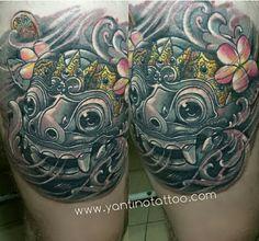 #barongtattoo #barong #balitattoo #studio #goodtattooshop  #tattoo #tattooart #tattoobali #blackgrey #yantinotattooubud #mashtattoo #realistic #yininyangtattoo #colortattoo www.yantinotattoo.com