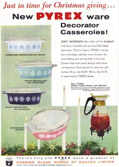 Vintage Ad #1,286: Pyrex for Christmas, 1956 | Flickr - Photo Sharing!