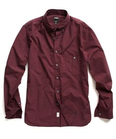 Red Plaid Sport Shirt / Todd Snyder
