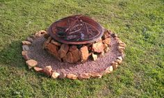 fire pit, all big rocks found around family property