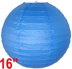 "Blue Chinese/Japanese Paper Lantern/Lamp 16"" Diameter - Just Artifacts Brand by Just Artifacts. $1.60. Great for party and home decoration. Check Just Artifacts products for more available colors/sizes."