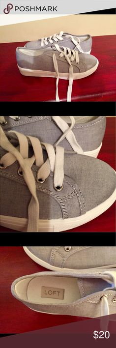 Ann Taylor Laced Up Shoes Trendy sneakers never worn🌻🌻🌻 Shoes Sneakers