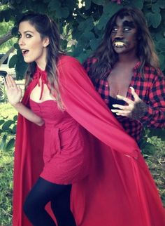 halloween costumes for best friends little red riding hood pinup and the big bad wolf - Good Halloween Costumes For Big Guys