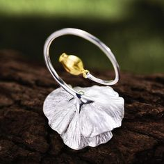 This Blooming Flower ring is delicately made of 925 sterling silver with beautiful details highlighted in gold plated silver Fine Jewelry, Women Jewelry, Blooming Flowers, Blossom Flower, Handmade Flowers, Handmade Silver, Silver Color, Fashion Rings, Jewelry Crafts