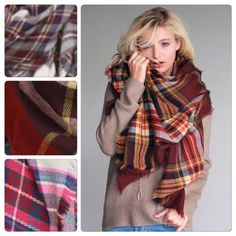 Blanket scarf are here ! 3 colors for this bundle or customize one ! $75 for 3 Accessories Scarves & Wraps