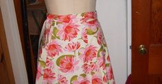 The Cordelia Files: Make Your Very Own Reversible Wrap Skirt/ How to Draft a Gored Skirt from Measurements.