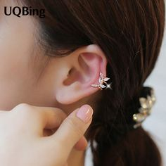 2016 Free Shipping Fashion Crystal Leaves Stud Earrings Rose Gold/Gold-color Earrings Jewelry Pendientes Brincos #Affiliate