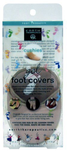 Cushies Gel Foot Covers by Earth Therapeutics. $19.99. Originally designed to protect professional dancers from the continuous high levels of stress imposed on their feet and toes, these Gel Foot Covers bring the same level of protection to anyone and everyone wanting to give their feet some extra tender loving care.  These CUSHIES® Gel Foot Covers pad and cushion the metatarsals [the balls of the feet] from the friction and pressure which can cause burning pa...