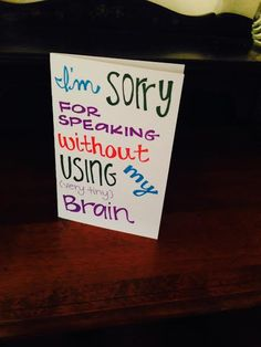 Sorry for Saying the Wrong Thing - Cute Apology/I'm Sorry Card on Etsy, $3.50