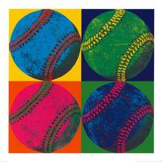 Ball Four: Baseball Art Print   Motivational - College Art Prints