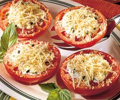 For a tasty grilled appetizer or side dish, top summer's finest tomatoes with fresh herbs.