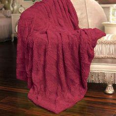 BOON Throw & Blanket Herringbone Faux Fur Throw Blanket Color: Chilli Pepper
