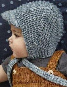 Простая детская шапочка связана спицами. Схема вязания детской шапочки спицами