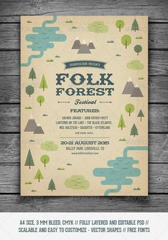 Folk Forest Festival - Music Flyer - Concerts Events