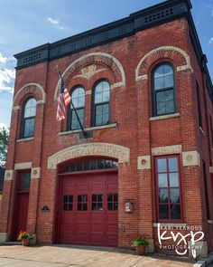Historic fire station in Winona, Minnesota. One of many historic buildings in Winona. Photo by Kari Yearous Photography.