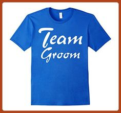 Mens Team Groom T-shirt Wedding Party Gift Small Royal Blue - Wedding shirts (*Partner-Link)