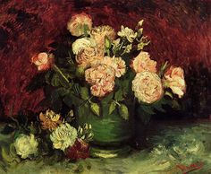 Vincent van Gogh. Bowl with Peonies and Roses. Paris: Autumn 1886