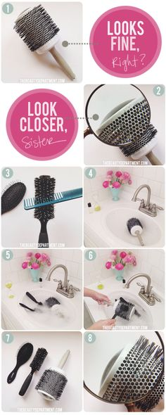 SPRING CLEANING! Theres one very important reason you should be giving your hair brushes a bath. Click the photo to find out!    Visit my site Real Techniques brushes -$10 http://www.4shared.com/video/39YLqnkuba/Real_Techniques_brushes_Samant.html     #cleanmakeupbrushes #makeupbrushescleaning #makeup #makeupbrushes