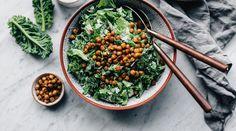 Vegan Caesar Salad w/ Chickpea Croutons