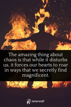 Embrace your messy life. Revel in the chaos and see the hidden lesson that enables your heart to roar!