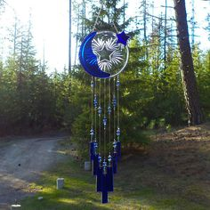 Moon Star wind chime by JewelsCharmingChimes on Etsy, $75.00