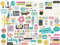 Simple Stories Carpe Diem Planner Collection Bits and Pieces