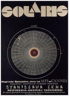 Afiche de Solaris de Andrei Tarkovski. Del libro de Stainslaw Lem