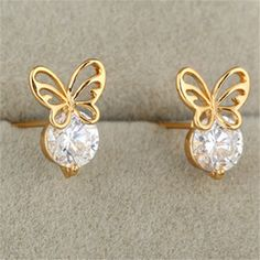 Purchase Gold Galvanized Austrian Zircon Ear Studs white from QingdaoMegasaveInternationalCO on OpenSky. Share and compare all Jewelry. Platinum Earrings, Copper Earrings, Gold Jewellery Design, Gold Jewelry, Bridal Jewellery, Jewlery, Jewelry Accessories, Fashion Earrings, Fashion Jewelry
