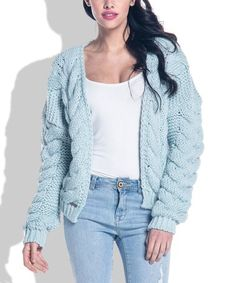 Love this Pistachio Thick-Knit Open Cardigan on #zulily! #zulilyfinds