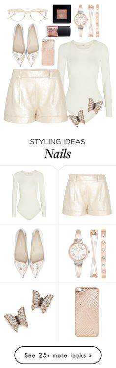 """""""Heavenly Butterfly"""" by perichaze on Polyvore featuring Wolford, Diane Von Furstenberg, Sophia Webster, Bloomingdale's, Cutler and Gross, Anne Klein, Mela Loves London, Bobbi Brown Cosmetics and NARS Cosmetics"""