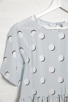 Print Midi T-Shirt Smock Dress Polka www.thewhitepepper.com/collections/dresses/products/print-midi-t-shirt-smock-dress-polka