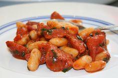 Chorizo, tomato, cannellini bean & coriander brunch.