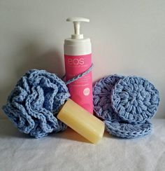 Hey, I found this really awesome Etsy listing at https://www.etsy.com/listing/226224117/blue-crochet-bath-set-crochet-spa-set