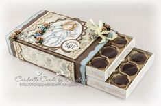 Cardville- Elizabeths Kreative sider: Tutorial: Decorating a chocolate box Chocolate Bar Wrappers, Chocolate Box, Scrapbook Box, Scrapbooking, Diy And Crafts, Paper Crafts, Memory Album, Altered Tins, Sweet Box