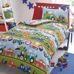 bluezoo Blue 'Transport' pattern bedding set- at Debenhams Mobile