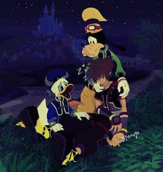 Sora has been forced to sleep by Marluxia's spell. Wonder why donald and goofy didn't pay him back, but maybe they just too focused on take care of Sora Kingdom Hearts 3, Vanitas, Manga, Sora, Magazine Art, Disney Magic, Final Fantasy, Memes, Video Game