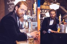 Actor Craig Mcginlay featuring Dress2Kill. Winter photo shoot, style inspiration for your special event.