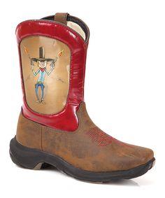 Another great find on #zulily! Durango Red Cowboy Lenticular Western Boot - Kids by Durango #zulilyfinds