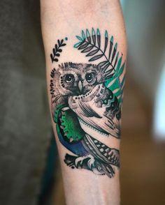 Sóweczka Elżunia ;)) almosy freehand #owl #tattoo #flower #tattoo #tatttx #psychedelic #art #graphic #black #animal #wroclaw #poland #taty #tattoed #polishgirl ✨🍀🌿🐦