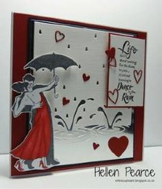 Stampendous Rain Dance Stamp now on website and Memory Box Die Splashing Puddles......Keep Singing Hellen xx