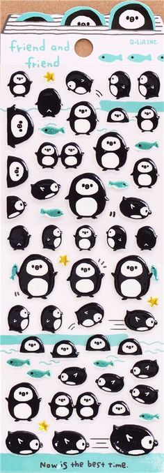 love the simplicity of these cute stickers from http://www.modes4u.com/en/kawaii/p21805_round-penguin-animal-stickers-by-Q-Lia-from-Japan.html