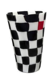 "VENINI Pezzati patchwork Murano glass vase by GIANNI VERSACE, circa 1997, engraved ""Venini, '97, Gianni Versace"", with original label and… / MAD on Collections - Browse and find over 10,000 categories of collectables from around the world - antiques, stamps, coins, memorabilia, art, bottles, jewellery, furniture, medals, toys and more at madoncollections.com. Free to view - Free to Register - Visit today. #Glass #DecorativeArts #MADonCollections #MADonC Murano Glass Vase, Gianni Versace, Shot Glass, Art Decor, Label, Auction, The Originals, Antiques, Tableware"