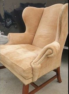 Delicieux RARE FIND Ralph Lauren Camel Suede Wingback Chair  Pair Available,priced  Each