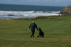 Golfing at Thurlestone Golf Club - fabulous and distracting views of the beaches and sea from almost every hole! Golf With Friends, Golf Card Game, Dubai Golf, Golf Tips Driving, Golf Cart Accessories, South West Coast Path, Golf Videos, Dartmoor, Golf Carts
