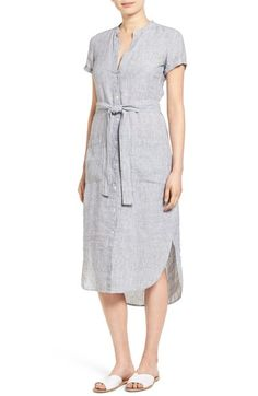 James Perse Stripe Linen Shirtdress available at #Nordstrom